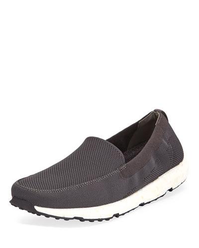 Breeze Leap Knit Boat Shoe, Gray
