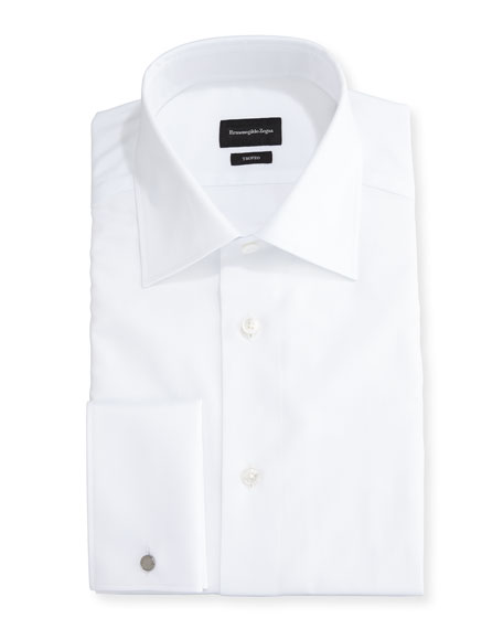 Ermenegildo Zegna Trofeo® Solid Regular-Fit Dress Shirt, White