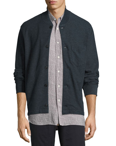 Henson Knit Shirt Jacket, Blue