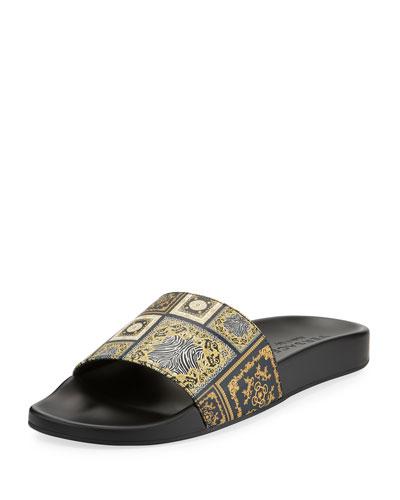 Men's Baroque Tile Signature Slide Sandal