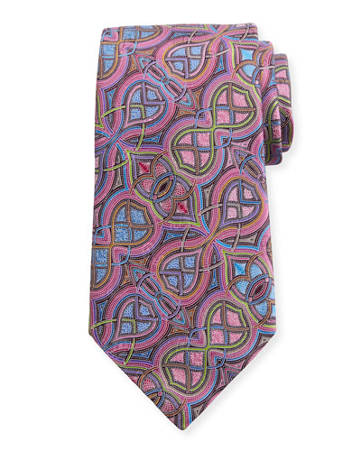 Quindici Infinity Silk Tie, Pink