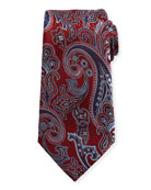 Silk Paisley Tie, Red