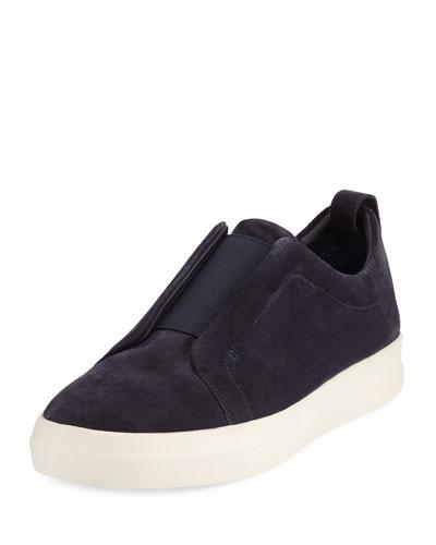 Conway Suede Slip-On Sneaker, Coastal Blue