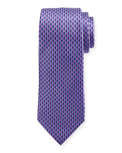 3D Diamond Neat Tie, Purple