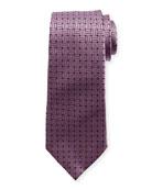 Braided Neat Silk Tie, Pink