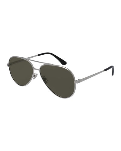 Men's Classic 11 Zero Aviator Sunglasses, Silver