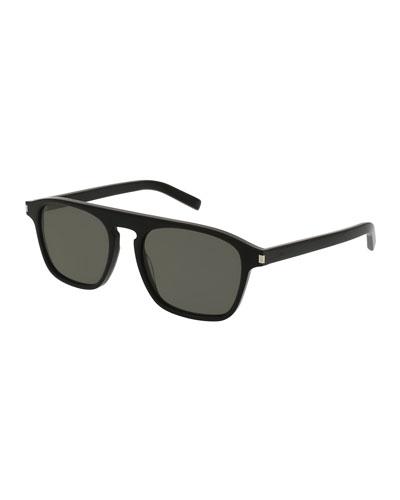 SL 158 Acetate Sunglasses, Black