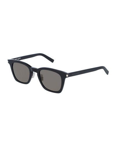 Classic 138 Slim Acetate Sunglasses, Black