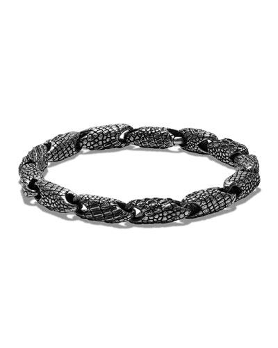 Men's Sterling Silver Naturals Gator Link Bracelet
