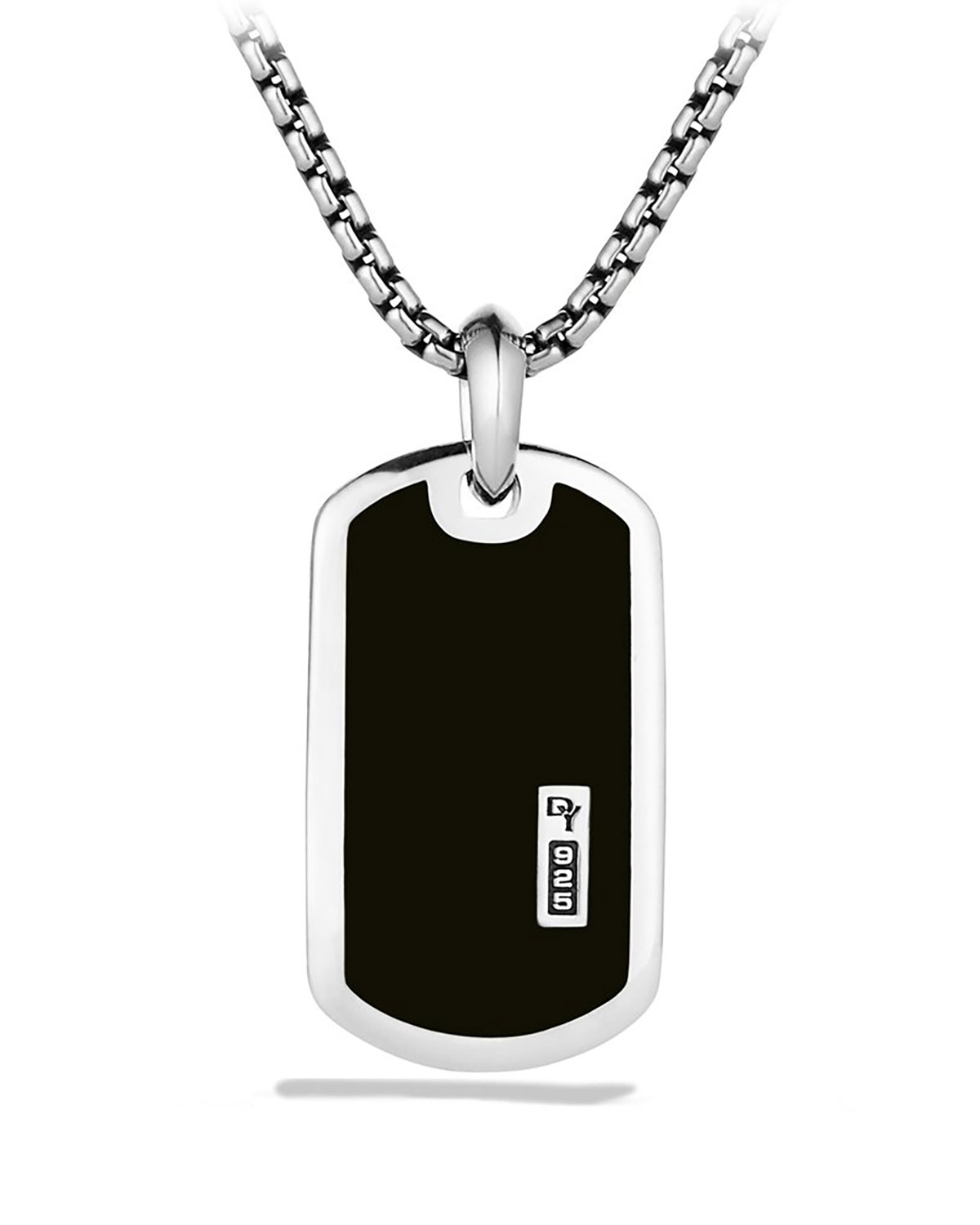Men's Exotic Stone Tag with Black Onyx
