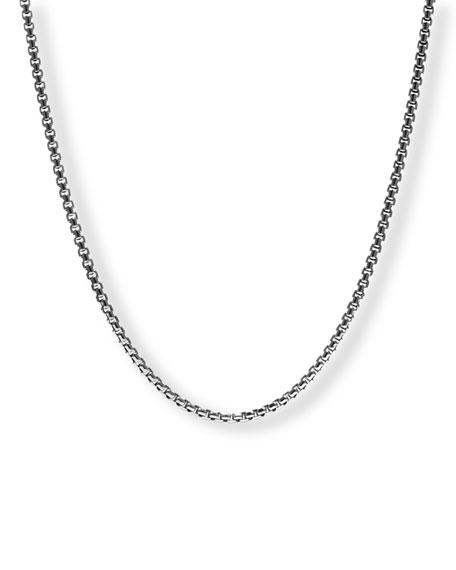 """David Yurman Men's Medium Box Chain Necklace, 24"""""""