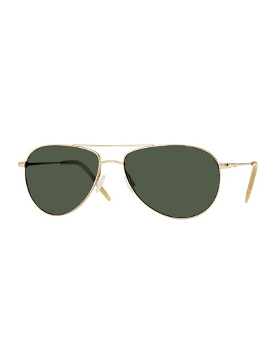 Benedict Basic Aviator Sunglasses, Gold