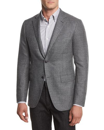Two-Button Textured Blazer