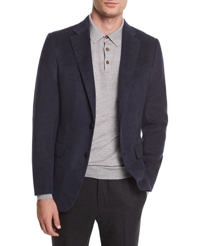 Two-Button Flannel Blazer