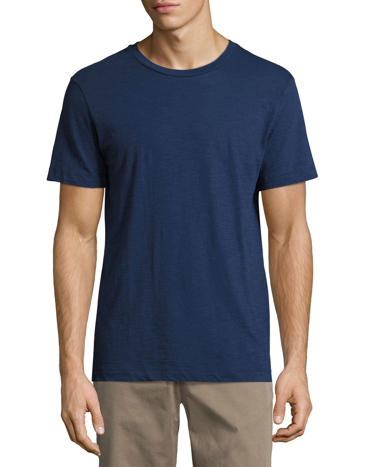Koree Slub Crewneck T-Shirt, Bright Blue Sea