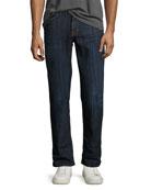 Classic Fraiser Straight-Leg Jeans, Medium Blue