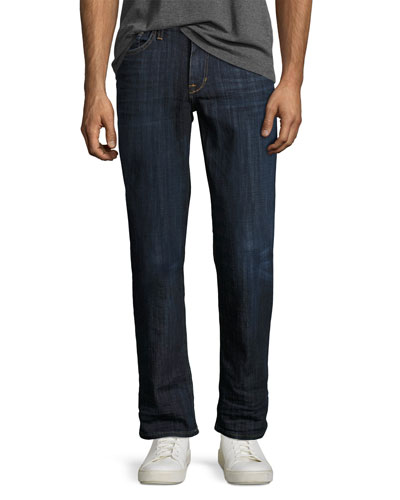Classic Fraiser Straight-Leg Jeans, Medium Blue