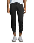 Drawstring Jogger Sweatpants, Black