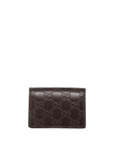 Signature Leather Card Case