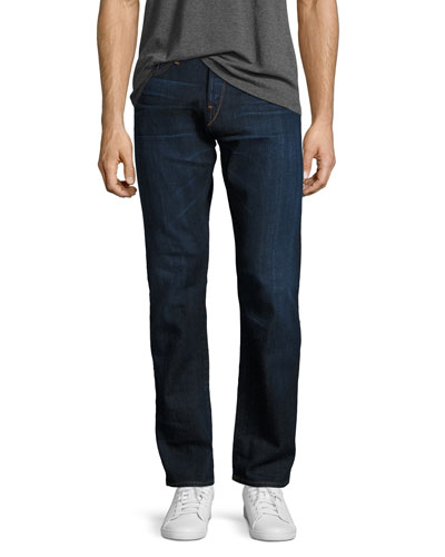 M4 Low-Rise Straight-Leg Jeans, F119