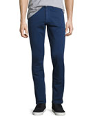 M3 Twill Slim-Straight Pants, Celeste