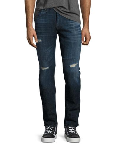 Paxtyn Distressed Skinny Jeans, Phoenix (Medium Blue)