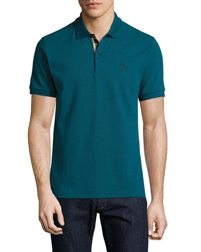 Short-Sleeve Oxford Polo Shirt, Dark Teal