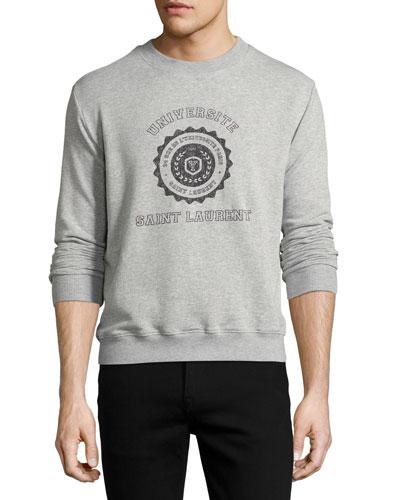 Universite Saint Laurent Crewneck Sweatshirt, Gray
