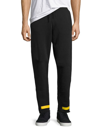 Arrow-Print French Terry Sweatpants, Black