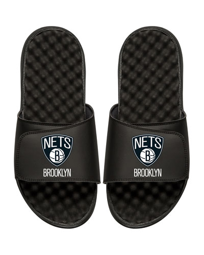 NBA Brooklyn Nets Primary Slide Sandal, Black