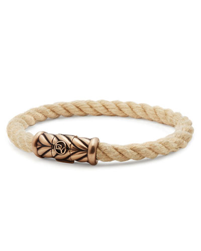 Men's 8mm Maritime Rope Bracelet with Bronze
