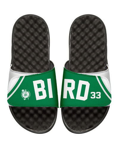 NBA Retro Legends Larry Bird #33 Jersey Slide Sandal, White