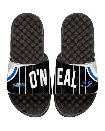 Men's NBA Retro Legends Shaquille O'Neal #32 Jersey Slide Sandals, White