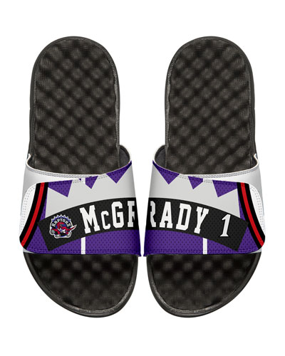NBA Retro Legends Tracy McGrady #1 Jersey Slide Sandal, White