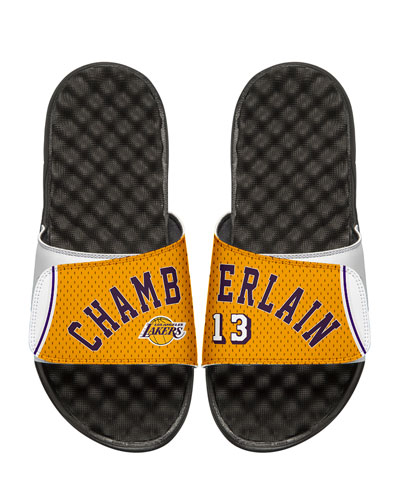 NBA Retro Legends Wilt Chamberlain #13 Jersey Slide Sandal, White