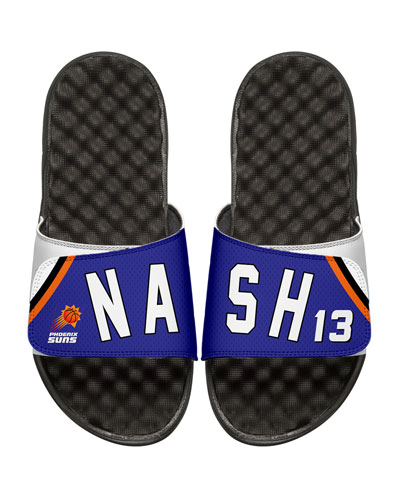 NBA Retro Legends Steve Nash #13 Jersey Slide Sandal, White