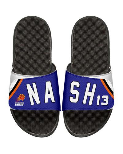 Men's NBA Retro Legends Steve Nash #13 Jersey Slide Sandals, White