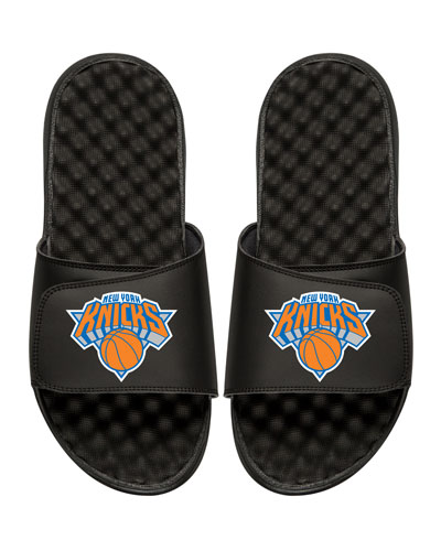 NBA New York Nicks Primary Slide Sandal, Black