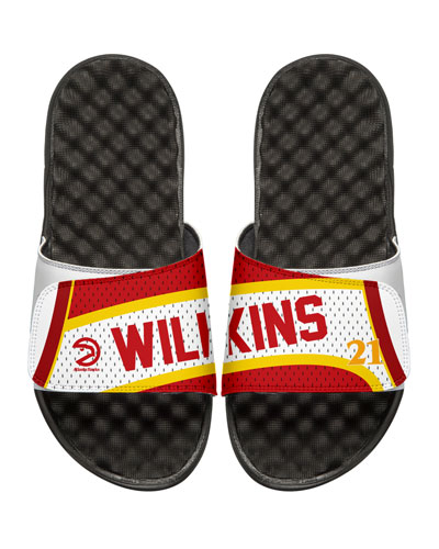 NBA Retro Legends Dominique Wilkins #21 Jersey Slide Sandal, White