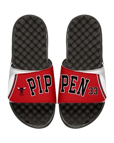 Men's NBA Retro Legends Scottie Pippen #33 Jersey Slide Sandals, White
