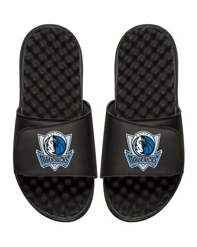 ISLIDE Men'S Nba Dallas Mavericks Primary Slide Sandals, Black