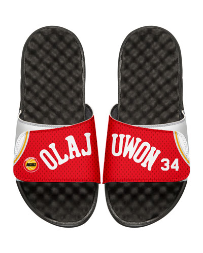 NBA Retro Legends Hakeem Olajuwon #34 Jersey Slide Sandal, White