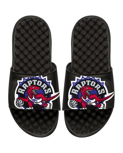 ISLIDE Men'S Nba Hardwood Classics Toronto Raptors Slide Sandals, Black
