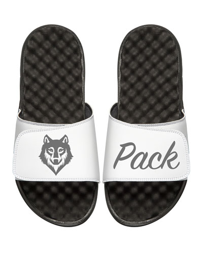 Wolf Pack Slide Sandal, White