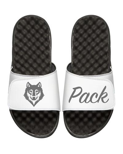 ISLIDE Men'S Wolf Pack Slide Sandals, White