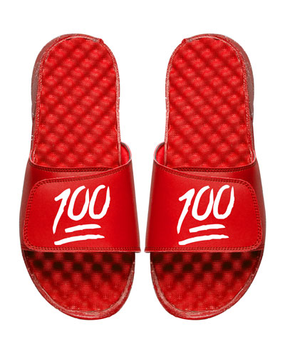 Keep It 100% Emoji Slide Sandal, Red