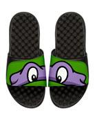 Teenage Mutant Ninja Turtles Donatello Slide Sandal, Black