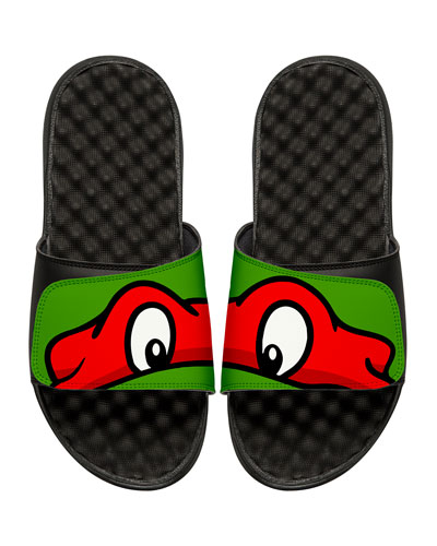 Teenage Mutant Ninja Turtles Raphael Slide Sandal, Black