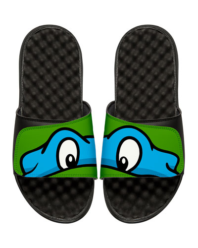 Teenage Mutant Ninja Turtles Leonardo Slide Sandal, Black