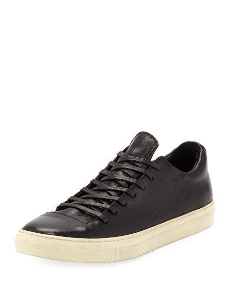 John Varvatos Men's 315 Reed Leather Low-Top Sneakers, Black
